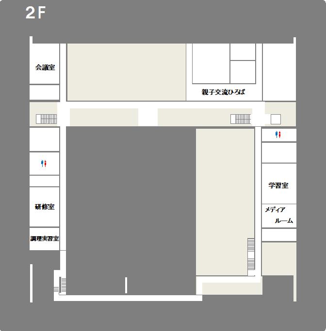 2階平面図のイラスト